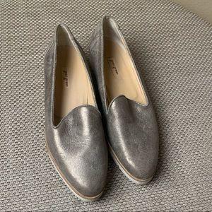 Paul Green Women's Metallic Leather Loafer Flat 7